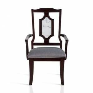 Grantec Co., Ltd Sleeplanner Wood Arm Chair with White Marble, Dining Chair, Set of 2
