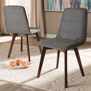 Baxton Studio Mid-Century Grey Dining Chair 2-Piece Set by Baxton Studio