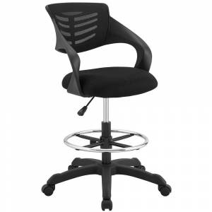 Modway Thrive Mesh Drafting Chair (Black)