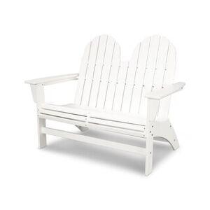 POLYWOOD® Vineyard Adirondack Bench (White)