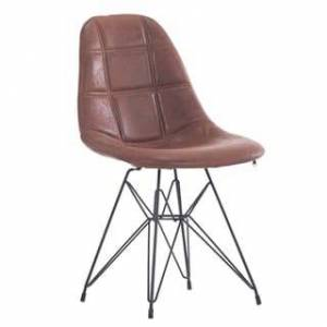 Porthos Home Mid-century Modern Faux Leather Upholstered Dining (Brown)