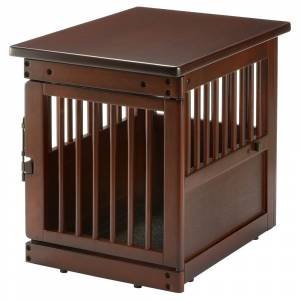 Richell Wooden End Table Dog Crate (Large)