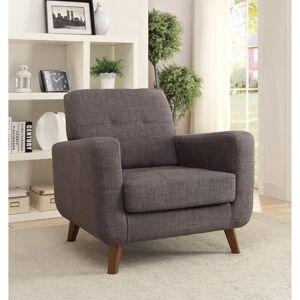 Benzara Rustic and Straightforward Accent Chair, Gray (Grey)