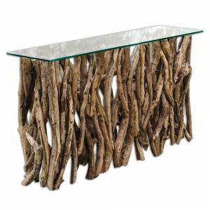 Uttermost Natural Teak Wood Console Table