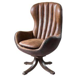Uttermost Garrett Toffee Brown Mid-century Swivel Chair