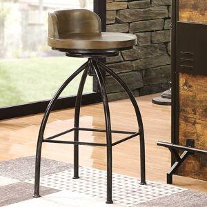 A Line Furniture Rustic Industrial Design Swivel Bar Stool (1 Bar Stool)