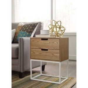 Serta Camden 2 Drawer Side Table, Classic Pine