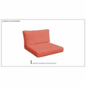 TK Classics Covers for Chair Cushions 4 inches thick (TANGERINE)