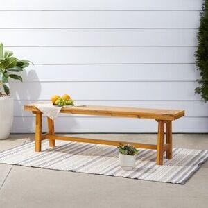Vifah Miami Outdoor Patio Dining Picnic Bench (Tan)
