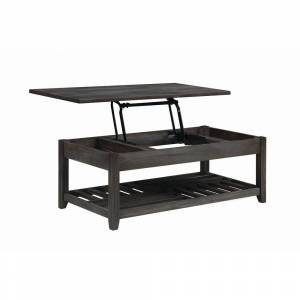 """Rio Carbon Loft Soule Grey Lift Top Coffee Table with Storage Cavities - 47.75"""" x 23.75"""" x 18"""" - 47.75"""" x 23.75"""" x 18"""" (47.75"""" x 23.75"""" x 18"""" - Rectangle"""