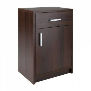 Overstock Astra Accent Table Cocoa Finish (Assembly Required - Cocoa - Manufactured Wood)