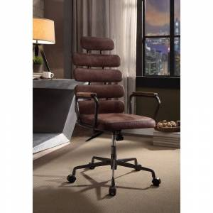 Acme Furniture ACME Calan Executive Office Chair, Vintage Whiskey Top Grain Leather