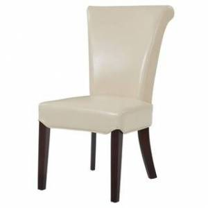 Overstock Bentley Bonded Leather Chair,Set of 2 - na (Beige - Upholstered/Wood)