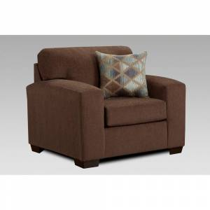 Chelsea Home Furniture Michael Track Arm Chair and a Half (Cocoa)