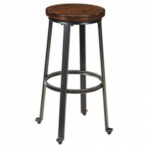 Signature Design by Ashley Challiman Rustic Brown Bar Height Bar Stool (Set of 2)
