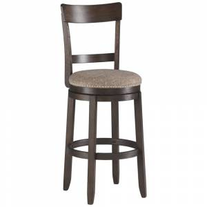 Signature Design by Ashley Drewing Bar Height Bar Stool - Set of 2 - Brown (Bar Height - 29-32 in. - Set of 2 - Brown)
