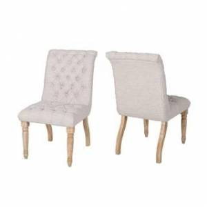 Christopher Knight Home Fieldmaple Tufted Fabric Dining Chair (Set of 2) by Christopher Knight Home (Beige, Natural)