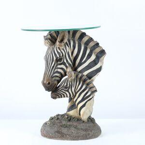 Winsome House Fashionable Zebra Tea Table (Glass)