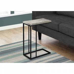 Overstock Accent Table - Grey Reclaimed Wood-Look / Black Metal (Reclaimed Wood)