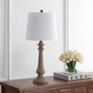 """Safavieh Lighting 28"""" Rhett LED Table Lamp - 12""""x12""""x28"""""""