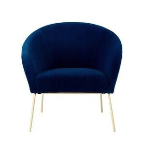Nicole Miller Van Glam Accent Chair (Navy/Gold)