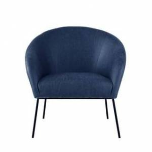 Nicole Miller Van Glam Accent Chair (Navy/Black)