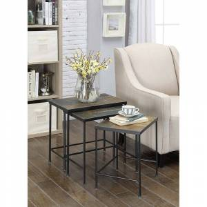 Overstock 3 Piece Nesting Table with Slate Top