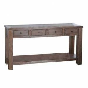 Furniture of America Piza Rustic Solid Wood 4-drawer Sofa Table (Antique Oak)