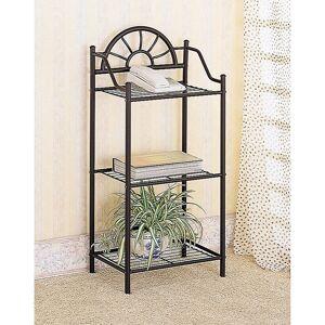 Overstock Courtney Black 3-shelf Accent Table (Shelf/Storage - Traditional - Specialty - Metal - Black - 3 and 4 Legs - Metal - Accent Tables - Metal Finish -