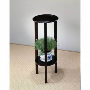 Overstock Tillie Espresso Round Accent Table (Shelf/Storage - Transitional - Round - Wood/MDF - 3 and 4 Legs - Plant Stands/Accent Tables - Wood - Espresso
