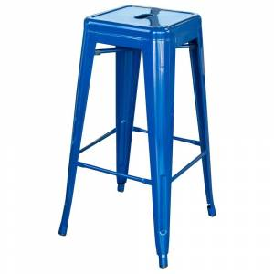 AmeriHome Loft Blue 30 in. Metal Bar Stool