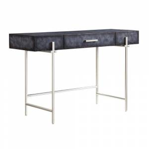 """Somette Chester Mottled Aged Graphite One Drawer Desk/Console Table - 47""""L x 17""""W x 30""""H (MDF - Chester Aged Graphite)"""
