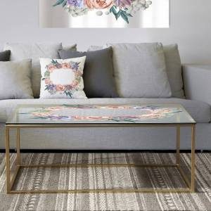 DESIGN ART Designart 'Garland Sweet 9' Metal Farmhouse Coffee Table (Sled - Assembly Required)