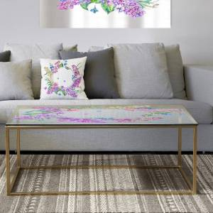 DESIGN ART Designart 'Garland Sweet 4' Metal Traditional Coffee Table (Sled - Assembly Required)