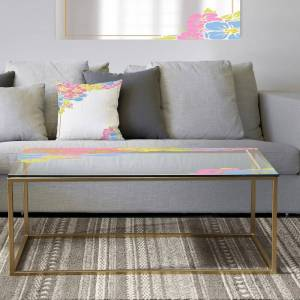DESIGN ART Designart 'Garland Sweet 18' Metal Traditional Coffee Table (Sled - Assembly Required)