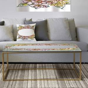 DESIGN ART Designart 'Garland Sweet 29' Metal Traditional Coffee Table (Sled - Assembly Required)