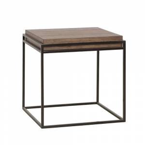 Rio Carbon Loft Mackinnon End Table (Old Forest Glen - Wood)