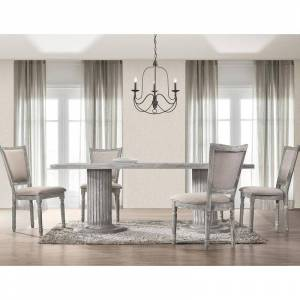 Best Master Furniture 5 Pieces Vintage Grey Rectangular Dining Set