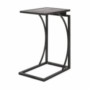 """Christopher Knight Home Barrybrooke Modern Industrial C-Shaped End Table by Christopher Knight Home - 12.00"""" W x 18.00"""" D x 25.25"""" H (Gray+Pewter)"""