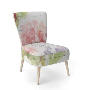 DESIGN ART Designart 'Maison Des Fleurs II' Upholstered Farmhouse Accent Chair (Side Chairs)