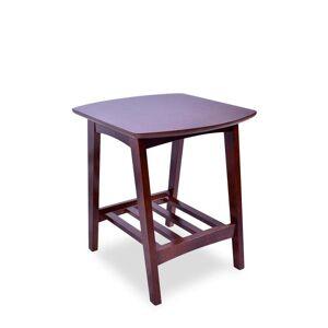 Overstock Mid Century Modern Sophia Walnut End Table - N/a (N/a - Walnut - Wood)