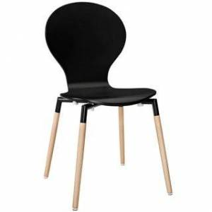 Overstock Dining Wood Side Chair (Black)