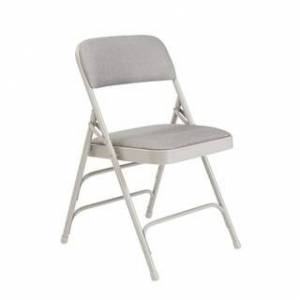 National Public Seating NPS Fabric Upholstered Premium Reinforced Folding Chairs (Pack of 4) (Grey)
