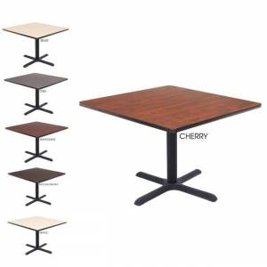 Reegncy Regency Lunchroom 36-inch Square Table (Brown - Mahogany Finish)