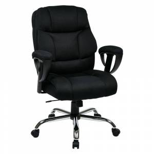 Office Star Products Executive Big Man's Chair with Mesh Seat and Back (Modern & Contemporary - Standard - Lumbar Support/Tilt/Adjustable Height - Metal/Mesh - Ergonomic
