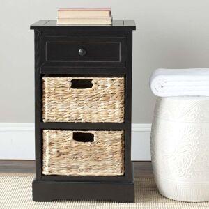 "Safavieh Cape Cod 3-Drawer Black Storage Table - 15.9"" x 13"" x 27.6"" (AMH5700B)"