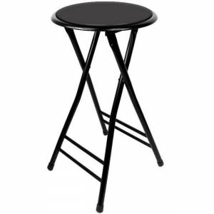 Trademark Global Trademark Home 24 Inch Cushioned Folding Stool (Set of 2) (24 inch Cushioned Stool)