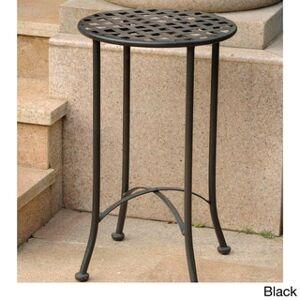 International Caravan Mandalay 16-inch Patio Side Table (Black)