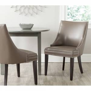 "Safavieh Dining Afton Clay Bicast Leather Dining Chairs (Set of 2) - 22"" x 25.6"" x 36.4"" (MCR4715F-SET2)"