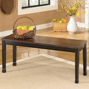 Signature Design by Ashley 'Owingsville' Black/ Brown Dining Room Bench - N/A (Black - Brown)